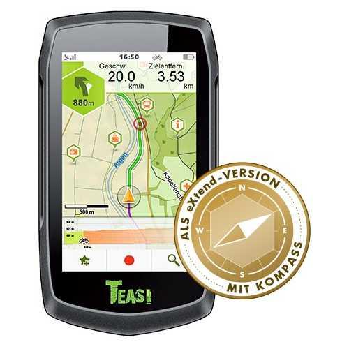 GPS Teasi One 3 Als Extended Compás 2017 Navegador ciclismo, senderismo, esquí y barcos