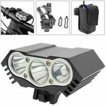 Luz LED frontal para bicicleta con batería de 8000mAh 3000 lúmenes 3 x T6 XLamp